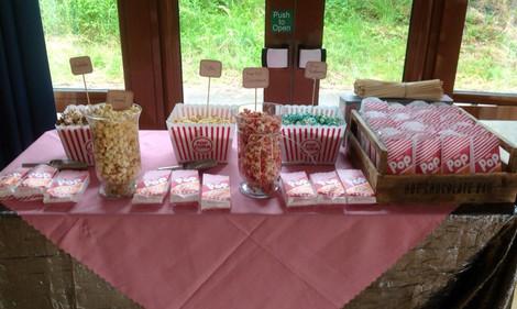 Popcorn Wedding Display | Chocolate Falls