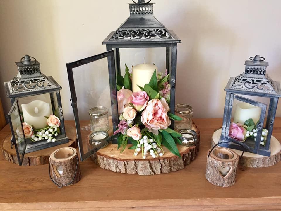 Faux Flower Wedding Arrangment   Chocolate Falls
