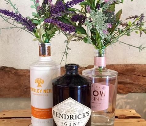 Gin Bottle Wedding Centrepiece Hire | Chocolate Falls