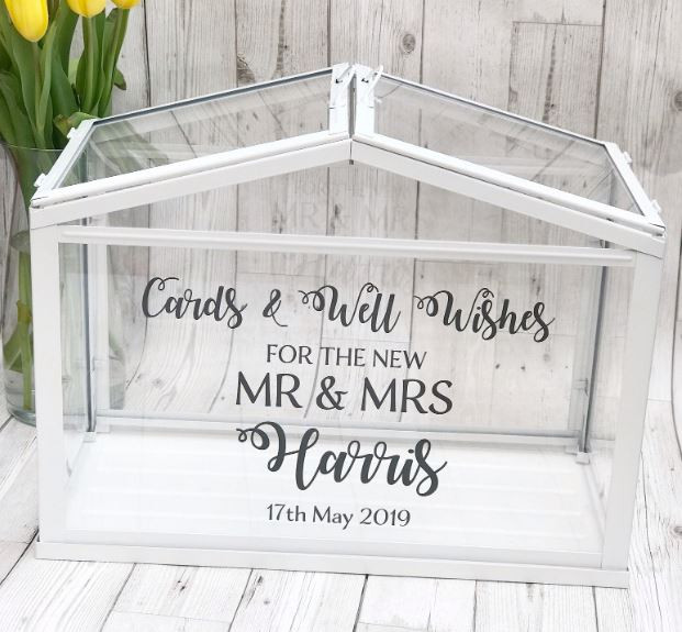Glass Glamorous Personalised Post Box | Chocolate Falls
