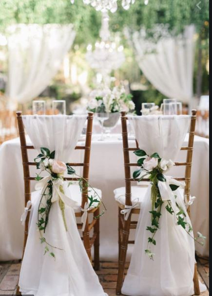 White Wedding Chair Cover Hire | Chocolate Falls