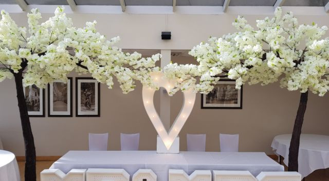 Canopy Trees Blossom Glam Wedding | Chocolate Falls