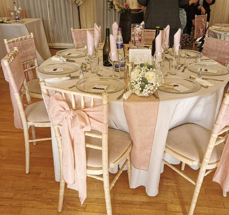 Pink Chair Covers Event Hire | Chocolate Falls