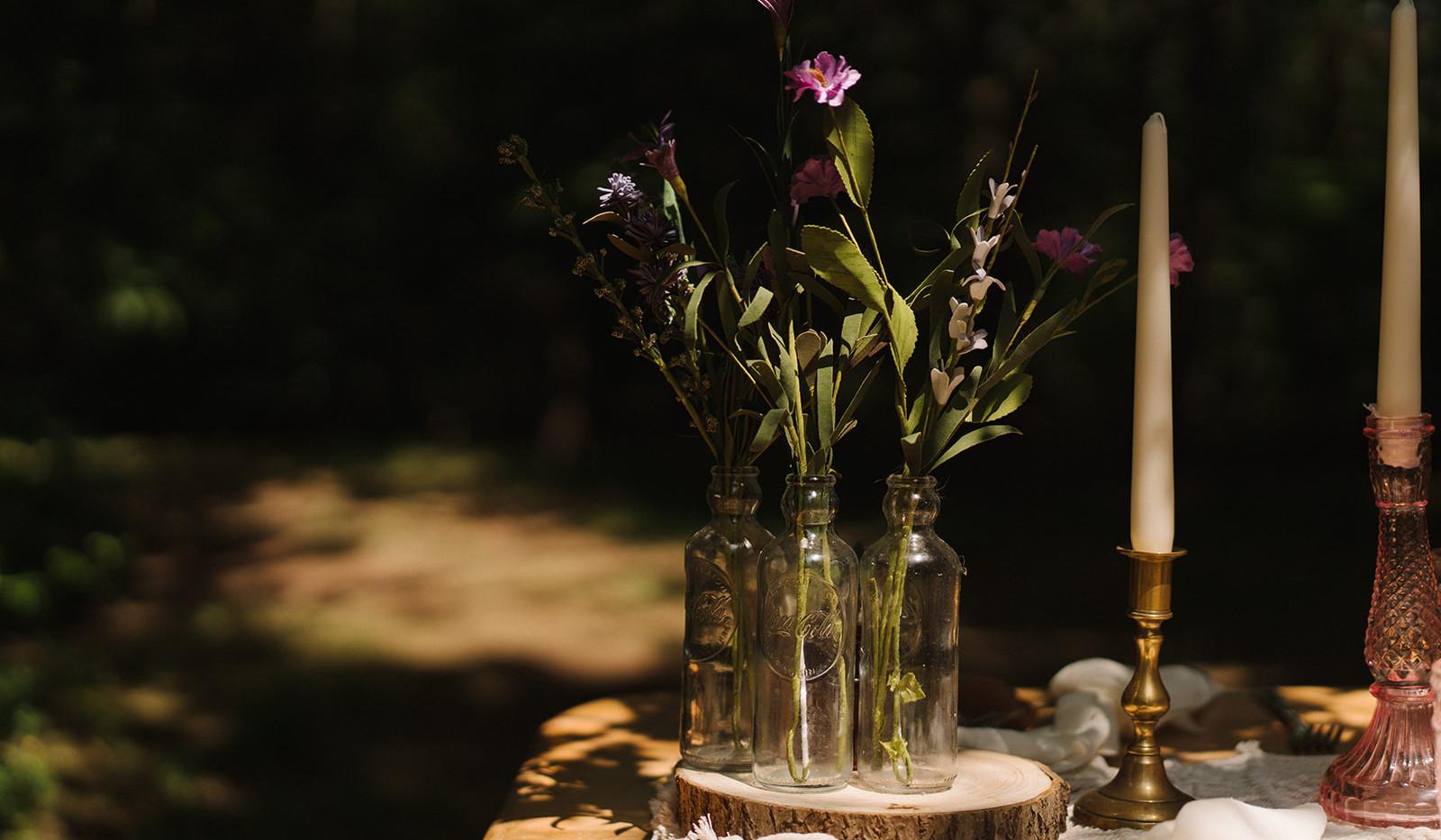 Glass Bottle Wedding Decor Hire   Chocolate Falls