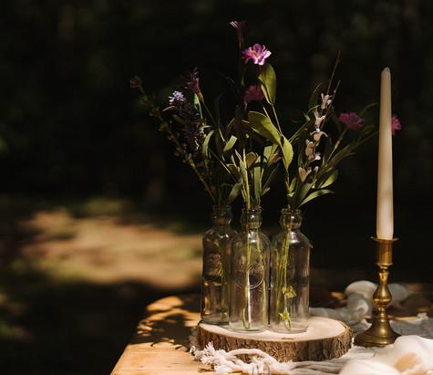 Glass Bottle Wedding Decor Hire | Chocolate Falls