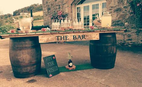 Prosecco Barrel Bar Event | Chocolate Falls