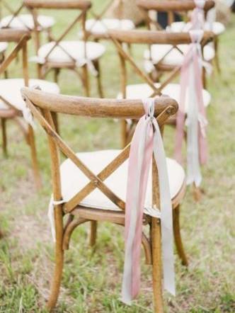Ribbon Chair Backs Wedding | Chocolate Falls