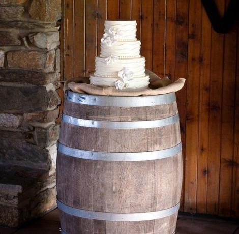 Barrel Table Cake | Chocolate Falls