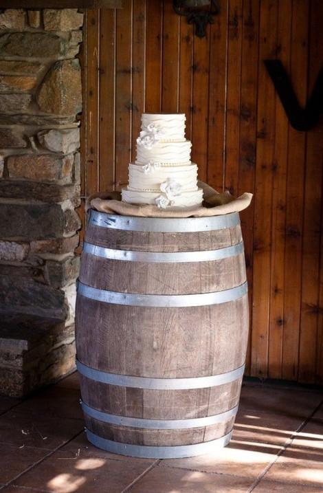 Barrel Table Cake Decor | Chocolate Falls