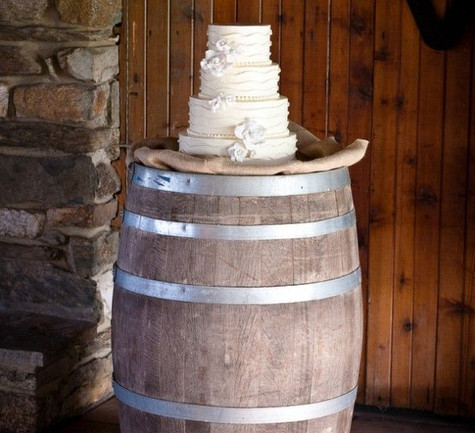 Barrel Table Cake Stand | Chocolate Falls