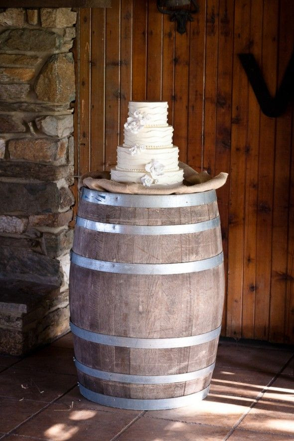 Barrel Table Cake Decor | Chocolate Falls