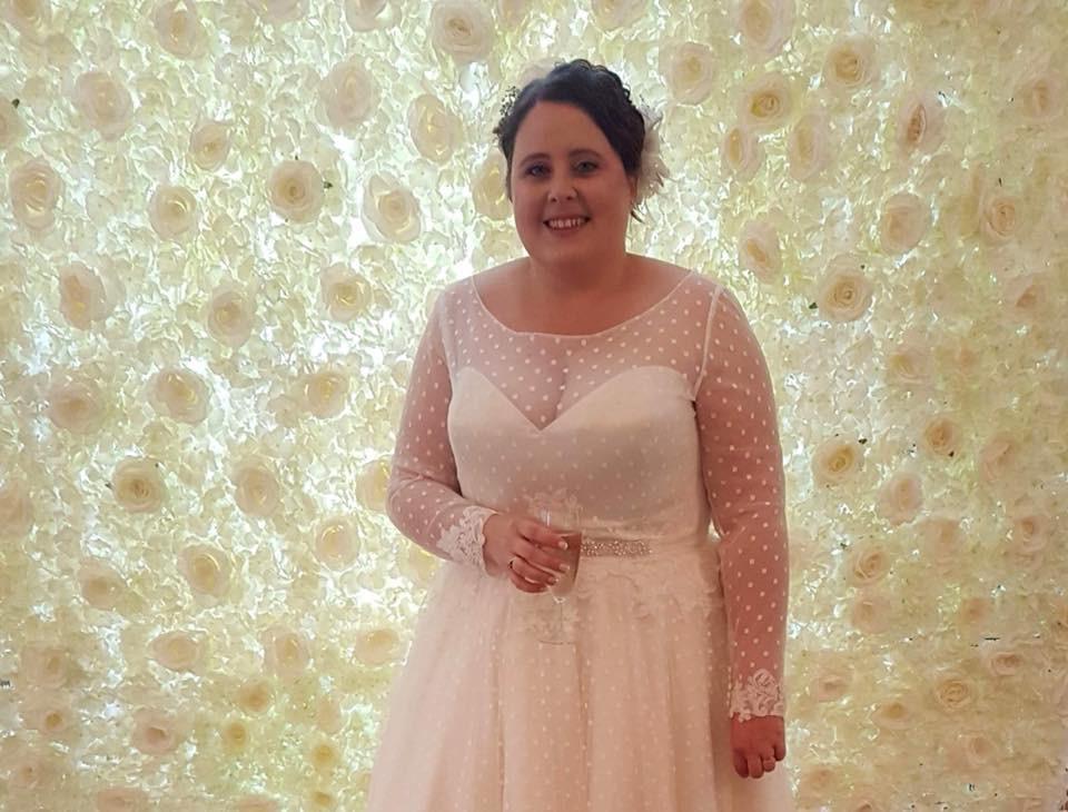 Wedding Cream Flower Wall | Chocolate Falls