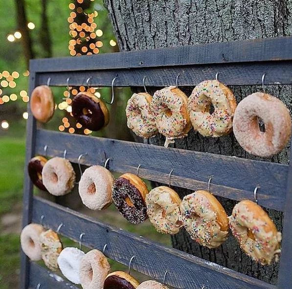 Grey Donut Wall Hire | Chocolate Falls