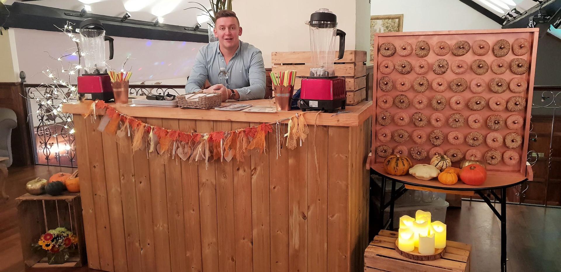Autumn Wedding Freakshake Bar | Chocolate Falls