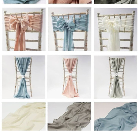 Cheesecloth Chair Covers hire | Chocolate Falls