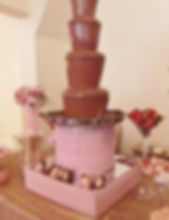 Gold & Blush themed Chocolate Fountain