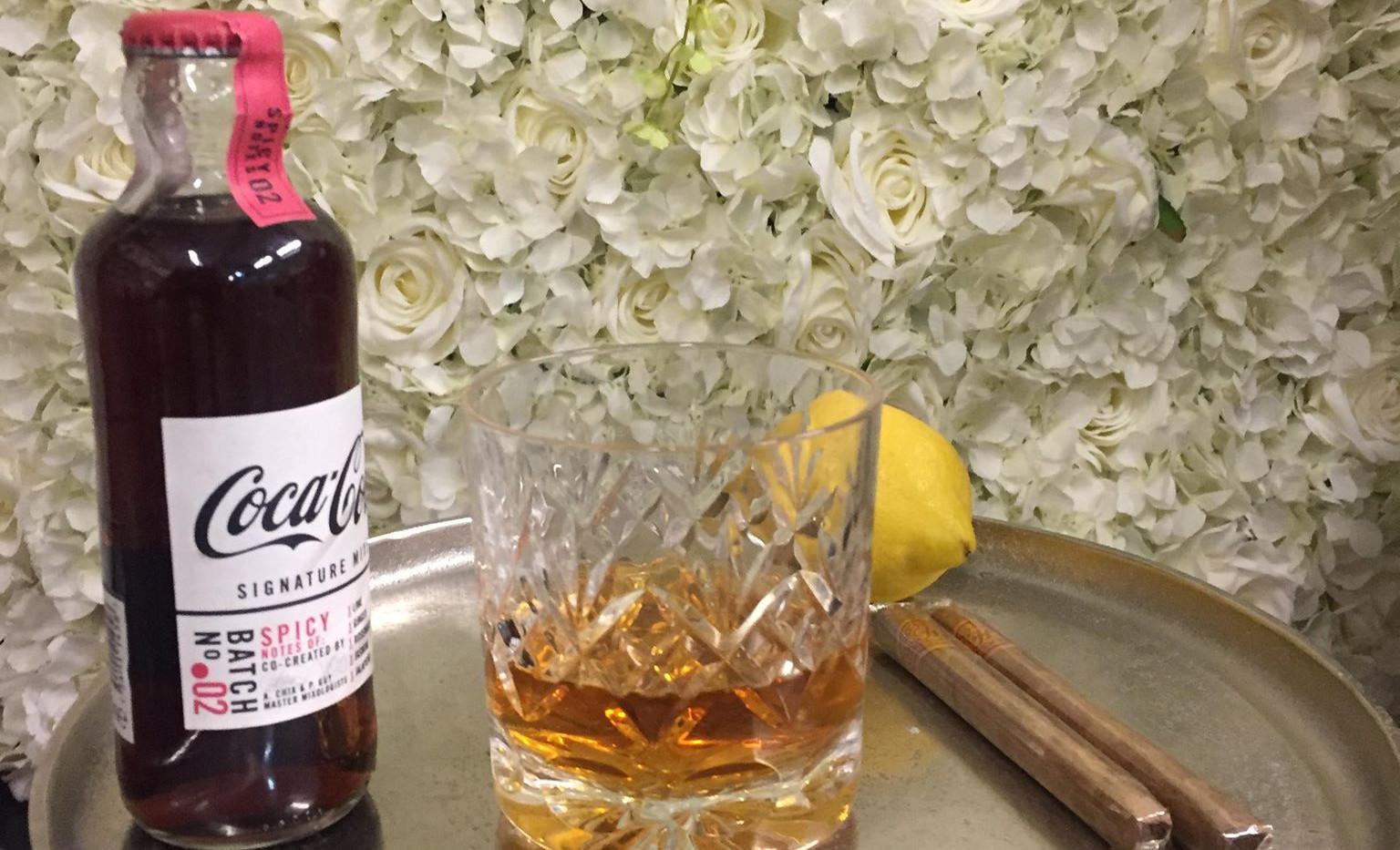 Whiskey Bar & Flower Wall | Chocolate Falls