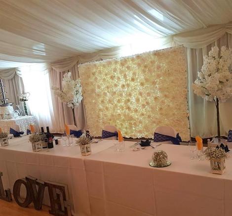 Wedding Flower Wall Backdrop   Chocolate Falls