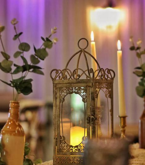 Vintage Bohemian Wedding Top Table Dressing   Chocolate Falls