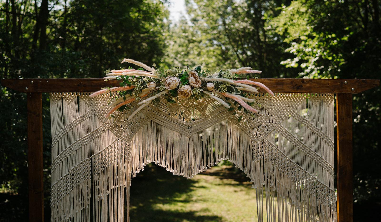 Wedding Woodland Arch Hire | Chocolate Falls