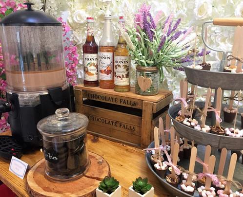 Hot Chocolate Party Bar | Chocolate Falls