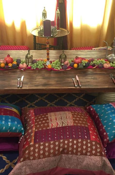 Laid back morrocan wedding table | Chocolate Falls