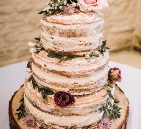 Wedding Cake Log Slices | Chocolate Falls