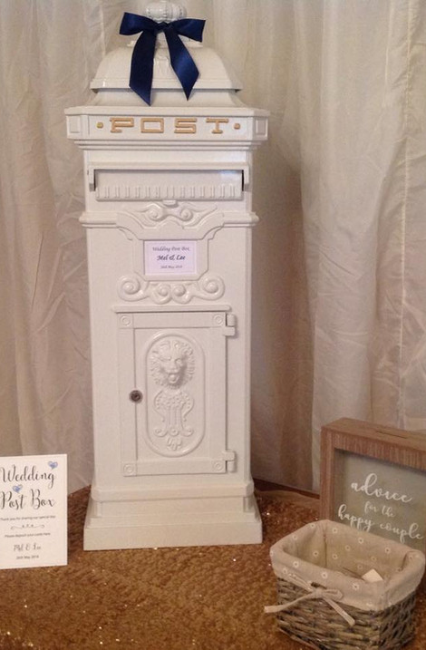 Country Wedding White POstbox | Chocolate Falls