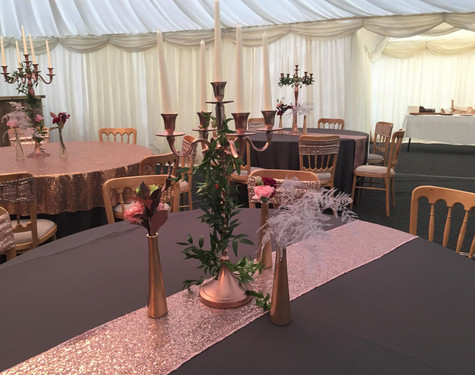 Grey & Glitsy Pink Table Centrepiece   Chocolate Falls