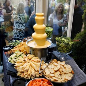 Cheese and bread Fountain | Chocolate Falls