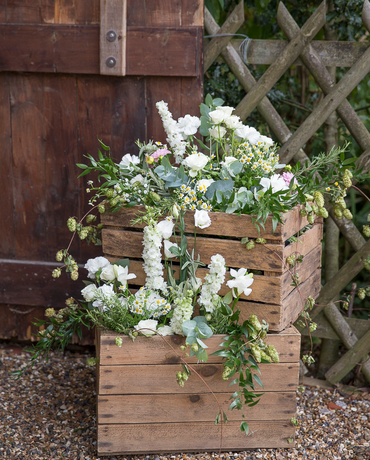 Rustic Wedding Flower Display Hire | Chocolate Falls
