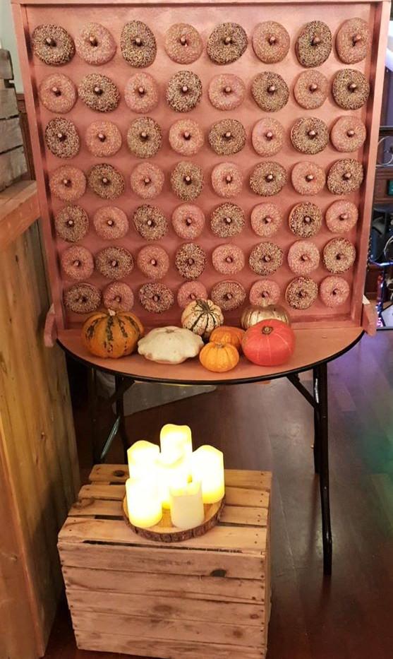 Autumn Donut Wall   Chocolate Falls