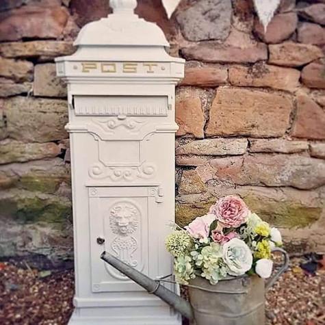 White Cast Iron Victorian Wedding Postbox   Chocolate Falls
