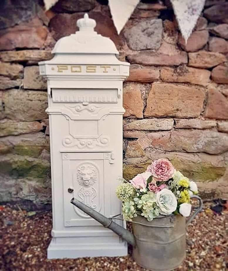White Cast Iron Victorian Wedding Postbox | Chocolate Falls