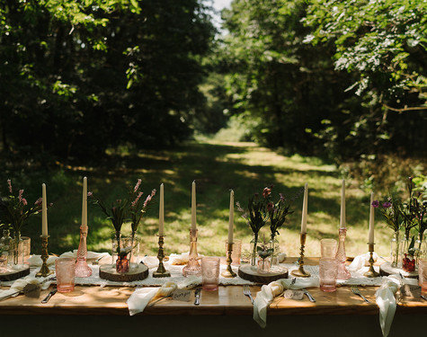 Romantic Woodland Table Setting   Chocolate Falls