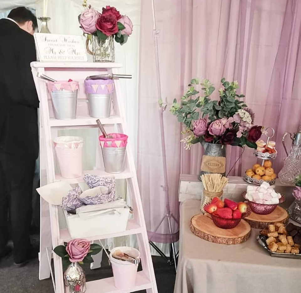 Wedding Sweet Ladder Hire | Chocolate Falls