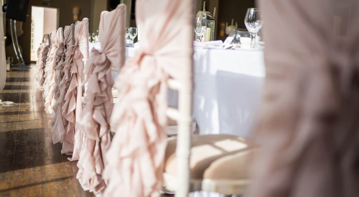 Dusky Pink Ruffle Hoods for hire | Chocolate Falls