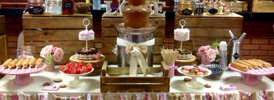 Waffle Bar & Mini Choc Fountain   Chocolate Falls