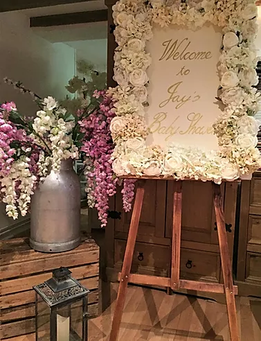 White Floral Frame Bespoke | Chocolate Falls