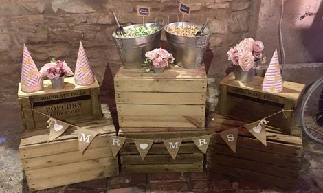 Popcorn Crate Display | Chocolate Falls