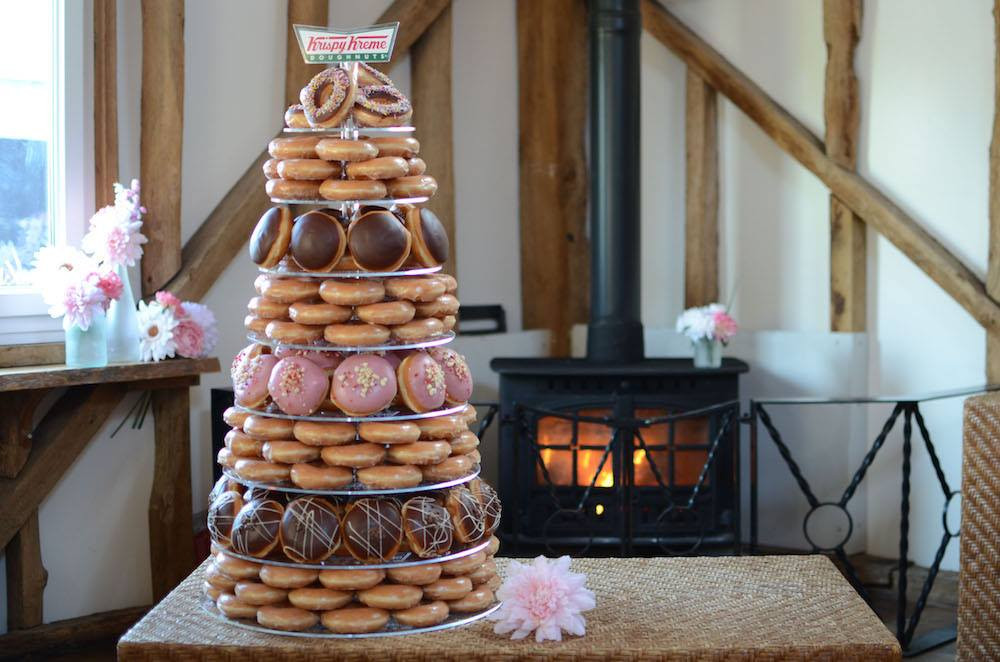 Wedding Donut Cake Display | Chocolate Falls