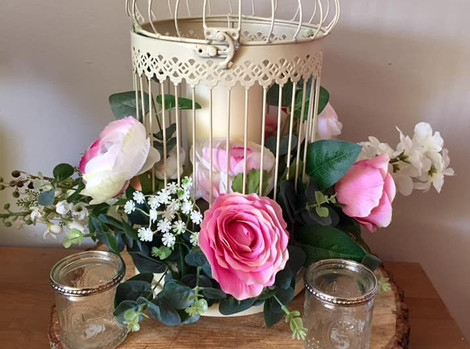 Birdcage Faux Flower Hire   Chocolate Falls