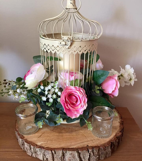Birdcage flowers Wedding Centrepice   Chocolate Falls