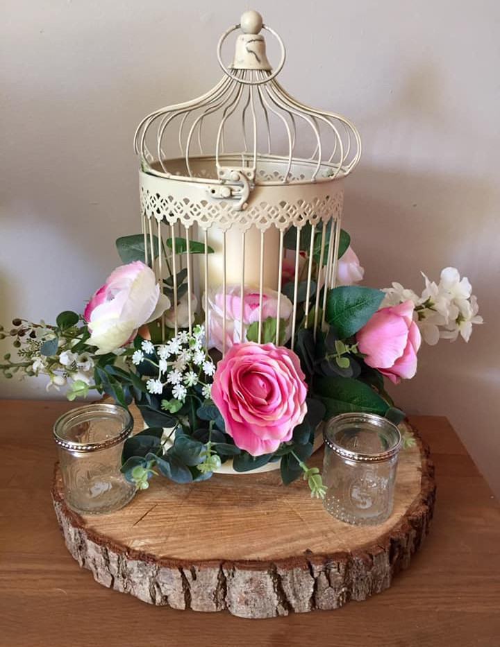 Birdcage Faux Flower Hire | Chocolate Falls