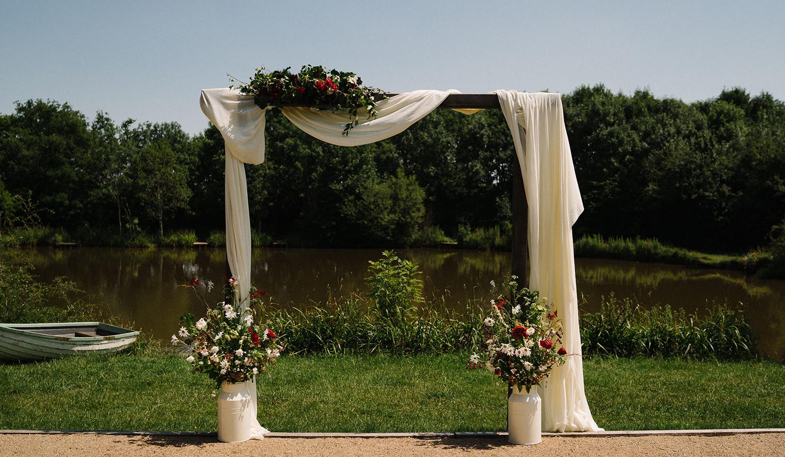 Wedding Ceremony Cloth Hire | Chocolate Falls