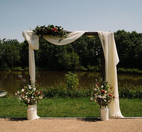 Wedding Ceremony Cloth Hire   Chocolate Falls