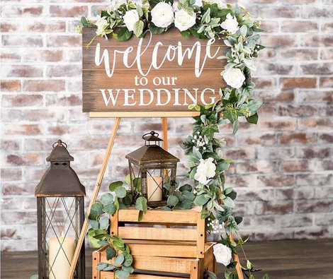 Welcome to our wedding display   Chocolate Falls