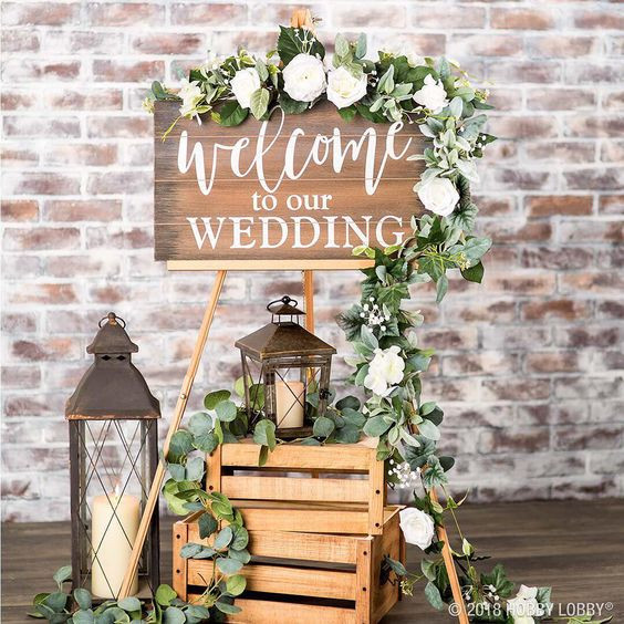 Welcome to our wedding display | Chocolate Falls