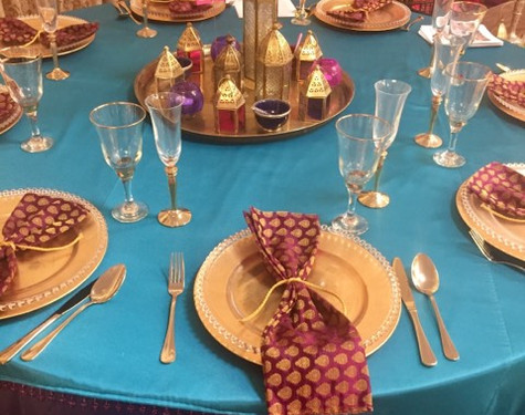 Moroccan table setting hire   Chocolate Falls