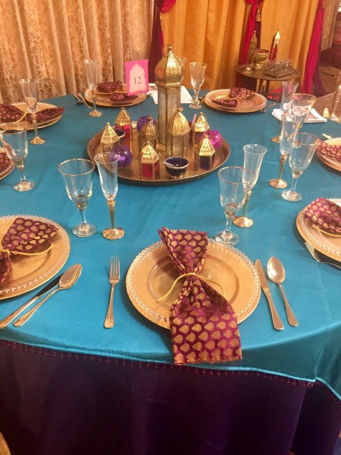 Moroccan table setting hire | Chocolate Falls